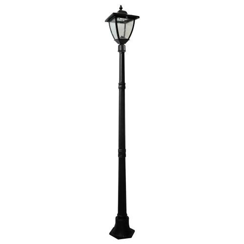 small resolution of outdoor black solar lamp post with super bright natural white led