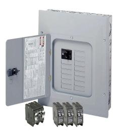 eaton br 125 amp 12 space 24 circuit indoor main breaker loadcenter with cover [ 1000 x 1000 Pixel ]