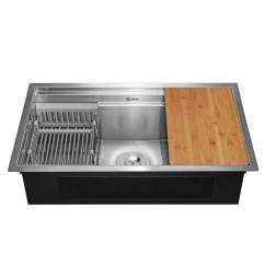 Undermount Single Bowl Kitchen Sink Minnesota Cabinets Akdy Handcrafted All In One 30 X 18 9 Stainless Steel With Accessories