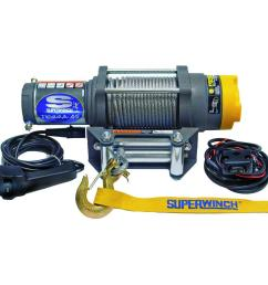 superwinch terra series 45 12 volt atv winch with 4 way roller fairlead and [ 1000 x 1000 Pixel ]