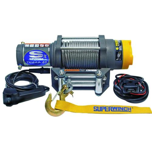 small resolution of superwinch terra series 45 12 volt atv winch with 4 way roller fairlead and