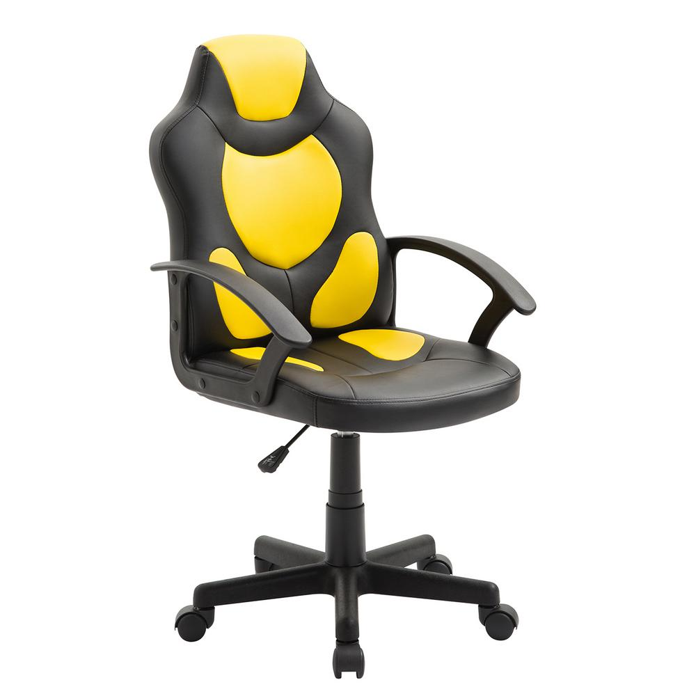 chair with wheels yellow office techni mobili kid s gaming and racing