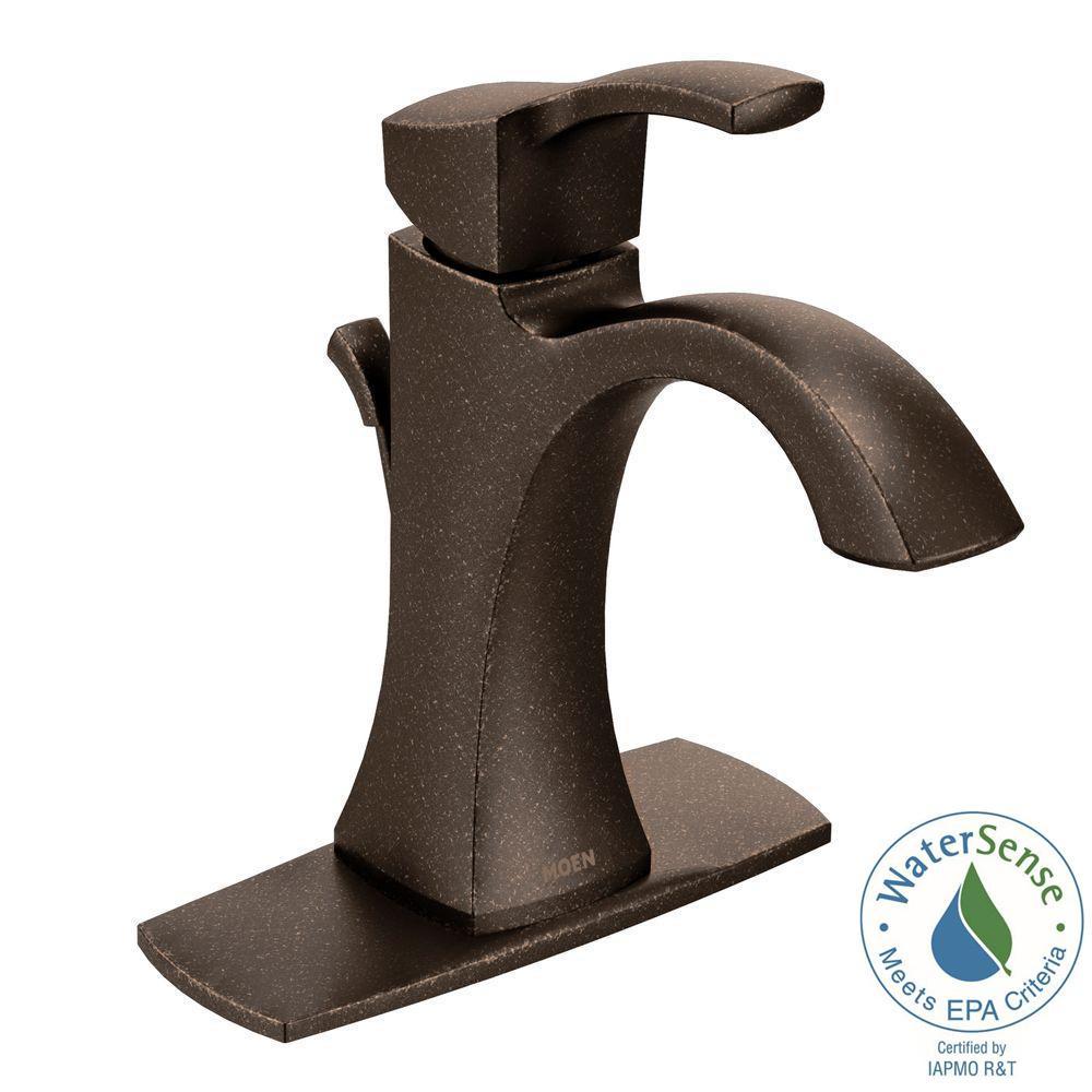 MOEN Voss Single Hole 1Handle HighArc Bathroom Faucet in