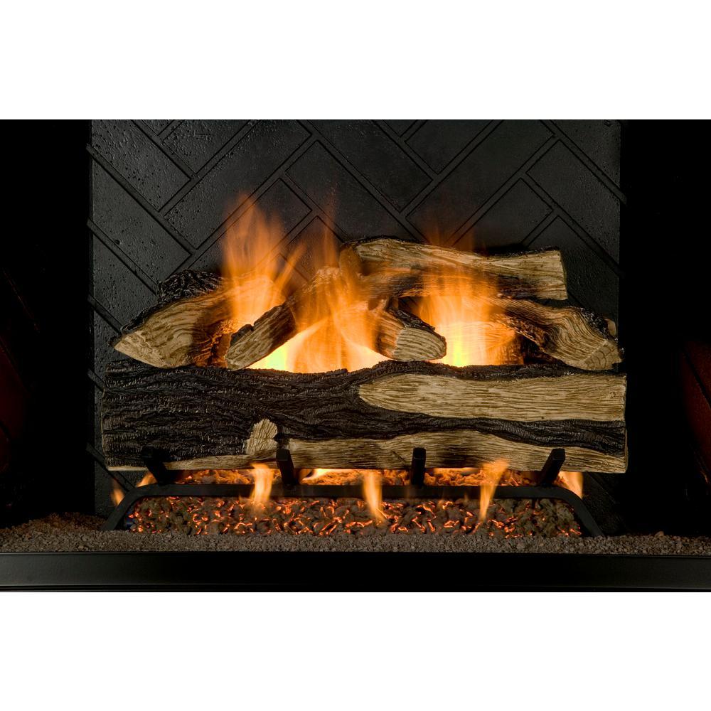 Emberglow Savannah Oak 18 in VentFree Propane Gas Fireplace Logs with RemoteSCVFR18L  The