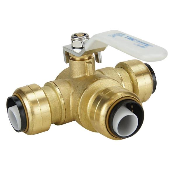 Tectite 3 4 In. Brass Push-connect 3- Ball Valve