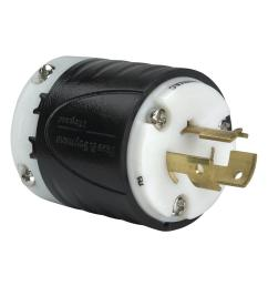 non nema 14 amp 125 volt 480 volt locking plug black white [ 1000 x 1000 Pixel ]