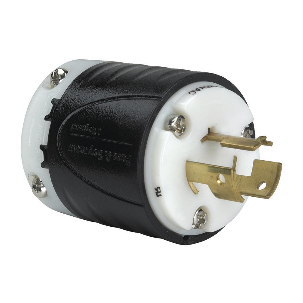 hight resolution of non nema 14 amp 125 volt 480 volt locking plug black white