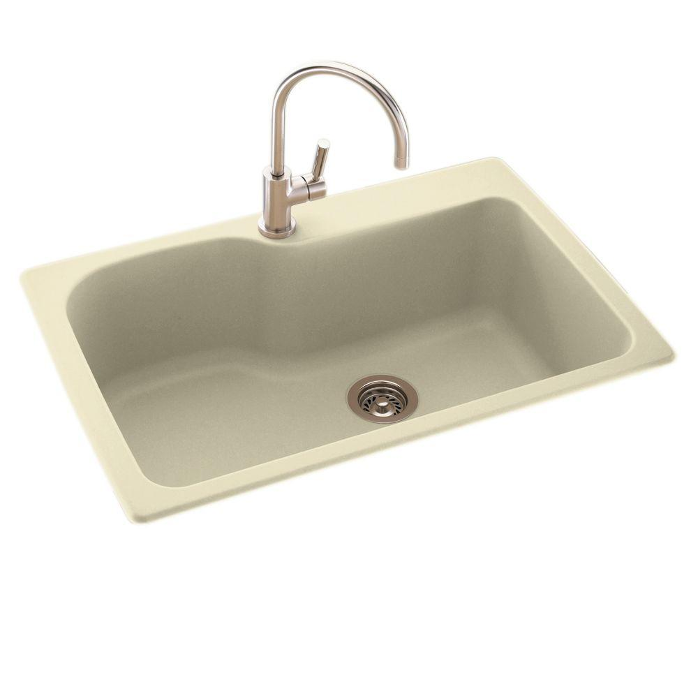 swanstone single bowl kitchen sink 8 chair table swan drop-in/undermount composite 33 in. 1-hole ...