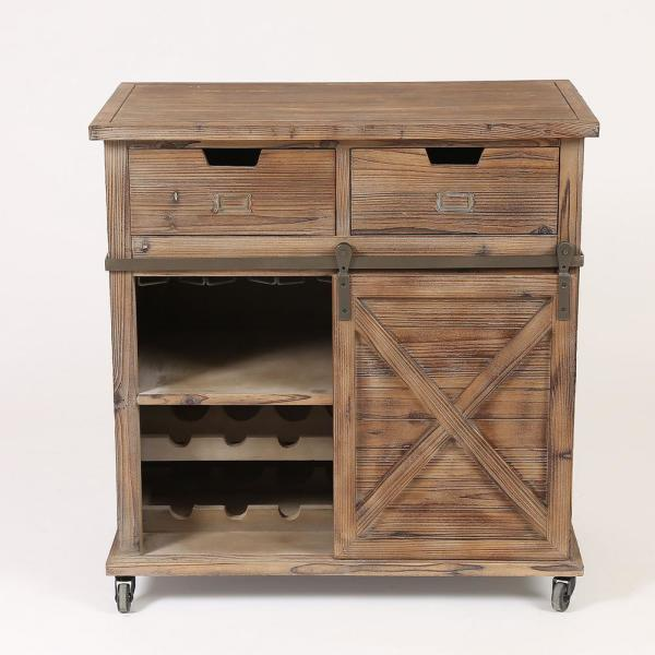 Winsome House 14Bottle Rustic Wine Cabinet WH181  The