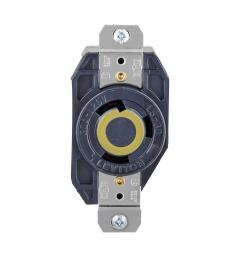 leviton 30 amp 125 volt 3 wire locking single outlet black [ 1000 x 1000 Pixel ]