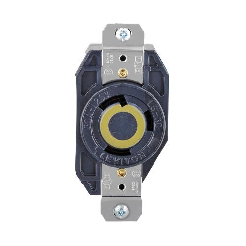 small resolution of leviton 30 amp 125 volt 3 wire locking single outlet black
