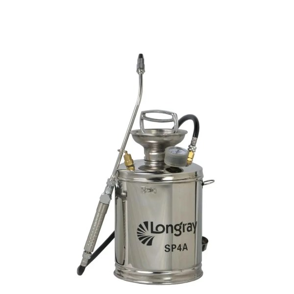 Longray Stainless Steel Hand Pump Sprayer 1-gallon Bug Spray Gun Metal Wand 634041580612