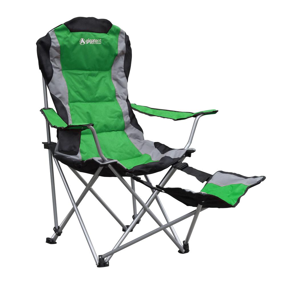 Collapsible Chair Gigatent Padded Camping Chair With Footrest