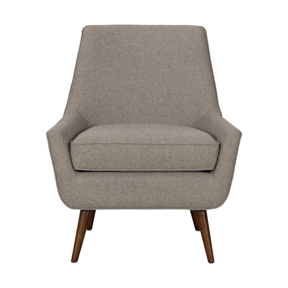 modern accent chairs office side homepop brushed light brown dean chair with ottoman