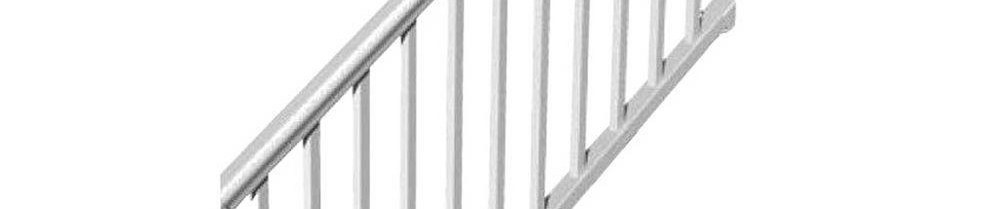 Rdi 6 Ft X 36 In 32° To 38° Vinyl Titan Pro Stair Rail Kit With | Glass Stair Railing Home Depot | Iron Railings Interior | Baluster | Concrete | Deck Railing Designs | Wrought Iron Stair