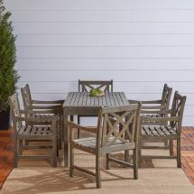 Vifah Renaissance 7-piece Rectangle Patio Dining Set