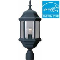 Volume Lighting 1-Light Black Outdoor Post Mount-V8126-5 ...