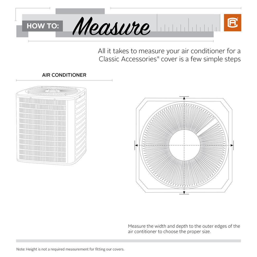 hight resolution of classic accessories 36 in l x 36 in w x 28 in h mesh air air conditioning accessories diagram