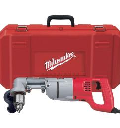 milwaukee 7 amp corded 1 2 in corded right angle drill kit with [ 1000 x 1000 Pixel ]