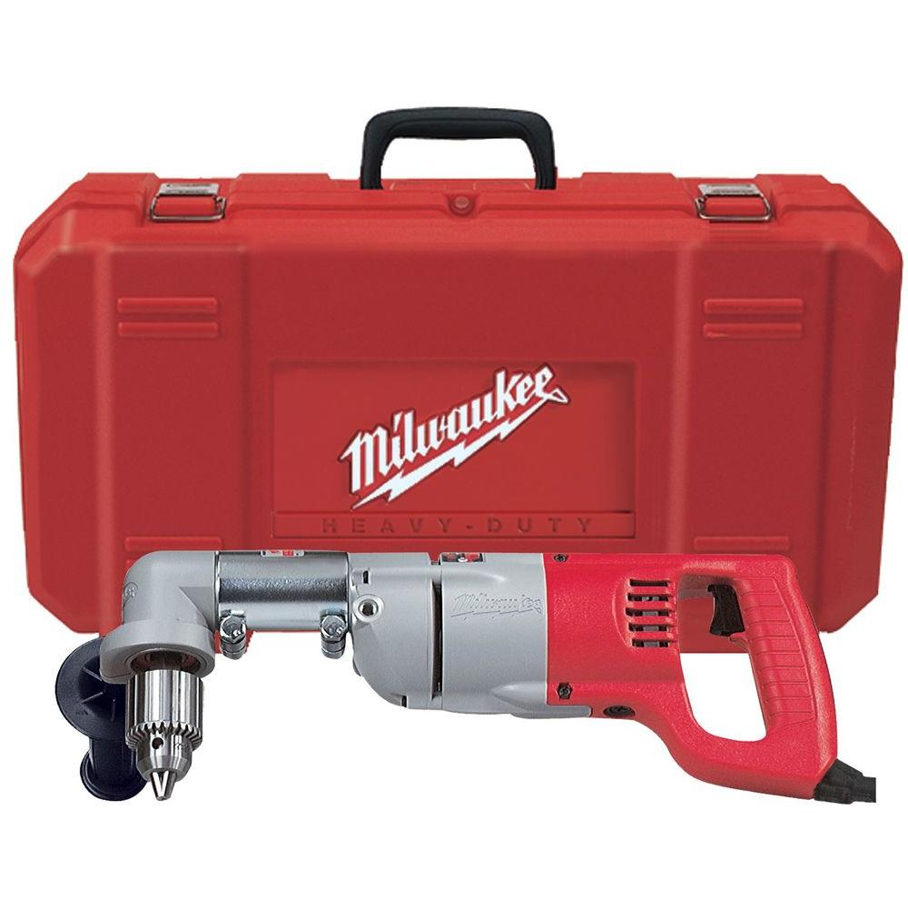 medium resolution of milwaukee 7 amp corded 1 2 in corded right angle drill kit with