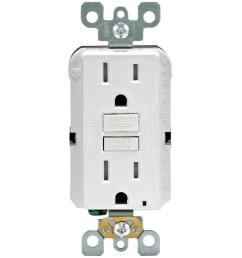 leviton 20 amp self test smartlockpro slim duplex gfci outlet white r12 gfnt2 0rw the home depot [ 1000 x 1000 Pixel ]