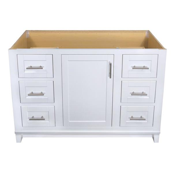 Glacier Bay Kinghurst 48 In W X 21 In X 33 5 In H D Bathroom Vanity Cabinet Only In White Khwht48dy The Home Depot