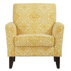 Accent Chair Yellow Aeron Accessories Modern Arm Chairs The Home Depot Alex Golden Damask