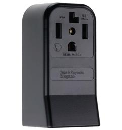 legrand pass and seymour 30 amp 125 250 volt surface mount straight blade power [ 1000 x 1000 Pixel ]
