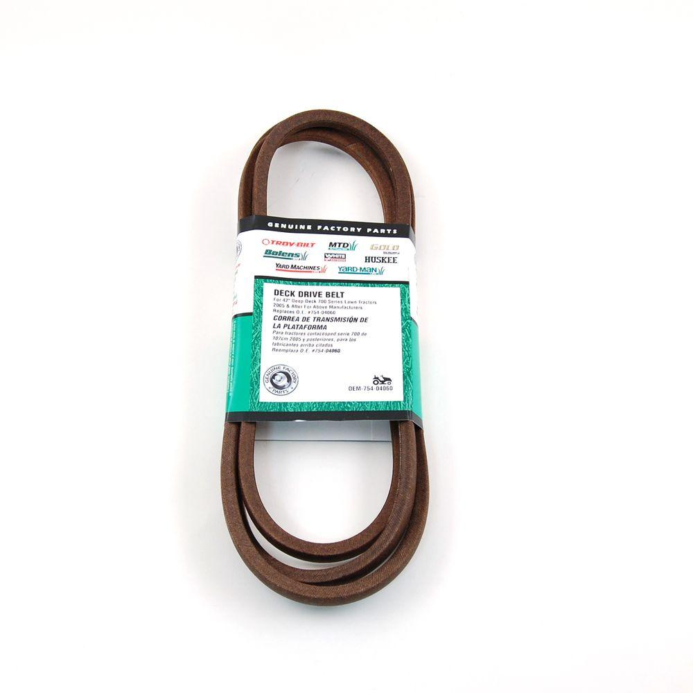 hight resolution of mtd genuine factory parts 42 in deck belt for mtd lawn tractors 2006 and after