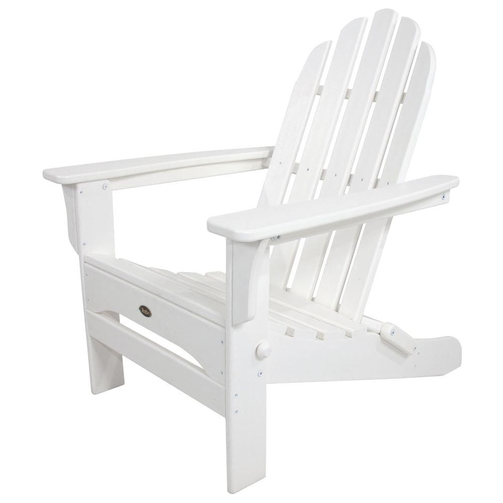 white lawn chairs plastic espresso dining trex outdoor furniture cape cod vintage lantern folding adirondack chair txa53vl the home depot