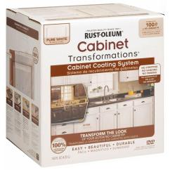 Home Depot Painting Kitchen Cabinets Cabnits Rust Oleum Transformations 1 Qt Pure White Cabinet Small Kit 298060