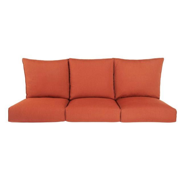 brown jordan highland replacement outdoor sofa cushion in cinnabar