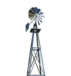 99 in small galvanized backyard windmill byw0038 the home depot [ 1000 x 1000 Pixel ]