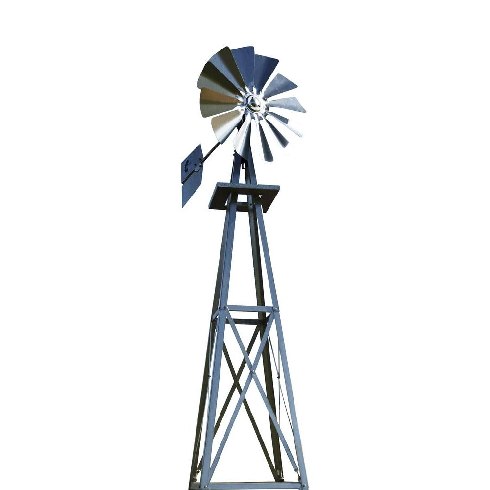 medium resolution of 99 in small galvanized backyard windmill byw0038 the home depot