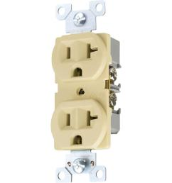 eaton 20 amp 125 volt 3 wire 2 pole commercial grade duplex cooper wiring devices 125volt 20amp brown duplex electrical outlet [ 1000 x 1000 Pixel ]