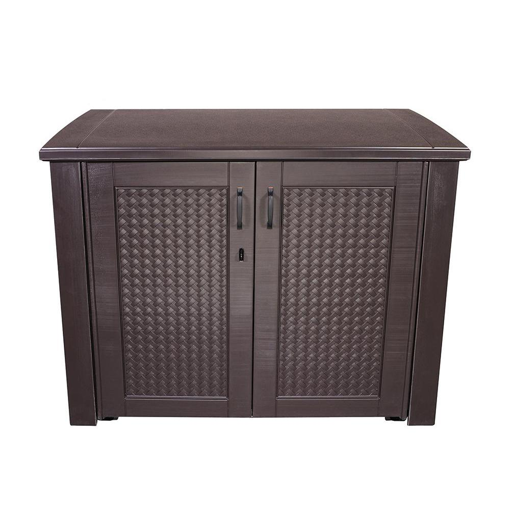 Rubbermaid Patio Chic 123 Gal Resin Basket Weave Patio