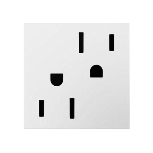 small resolution of 20 amp tamper resistant duplex outlet white