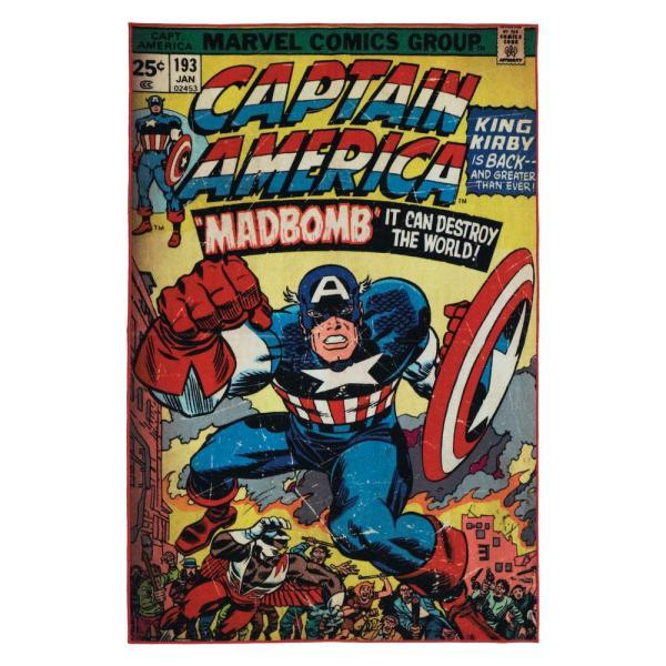 Marvel Captain America Multi-colored 5 Ft. X 7 Indoor