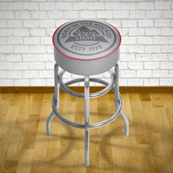 Trademark Coors Light 31 In. Chrome Padded Swivel Bar Stool-cl1000-rl - Home Depot