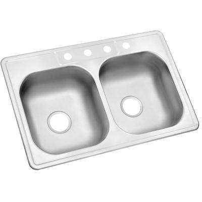 kitchen drain modular outdoor kits stainless steel sinks the home depot drop in