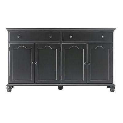 kitchen buffet blanco sink sideboards buffets dining room furniture the home depot harwick black