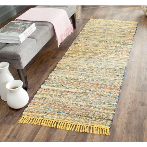 yellow kitchen runner rug Safavieh Rag Rug Yellow/Multi 2 ft. 3 in. x 6 ft. Runner