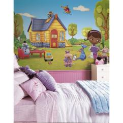 Doc Mcstuffin Chair Lawn Chairs Roommates 72 In X 126 Mcstuffins Rail Pre Pasted Wall