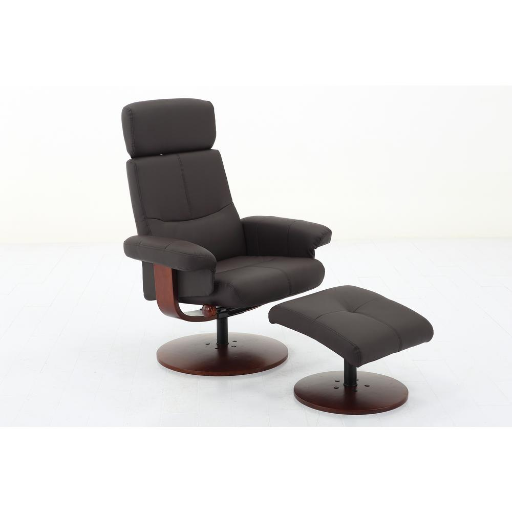 Mac Motion Chairs Mac Motion Chairs Comfort Chair Collection Roma Brown Polyurethane Recliner