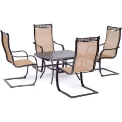 C Spring Patio Chairs Chair Covers China Landy Hanover Manor 5 Piece Aluminmum Conversation Set With 4 Rockers And Cast Top Coffee Table