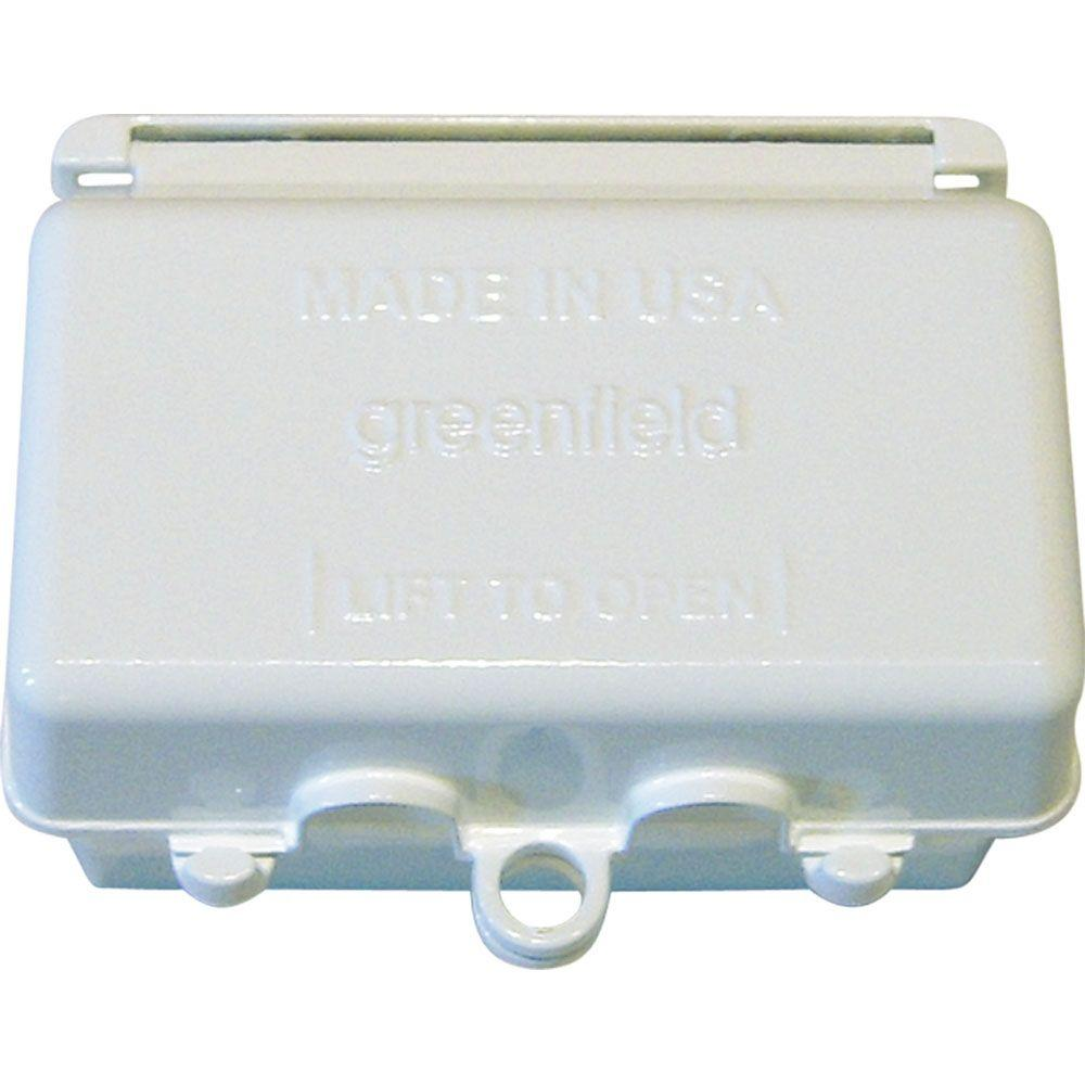 Greenfield WhileInUse Weatherproof Electrical Box Cover Horizontal  WhiteWIUHWS  The Home Depot