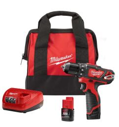 milwaukee m12 12 volt lithium ion cordless 3 8 in drill  [ 1000 x 1000 Pixel ]