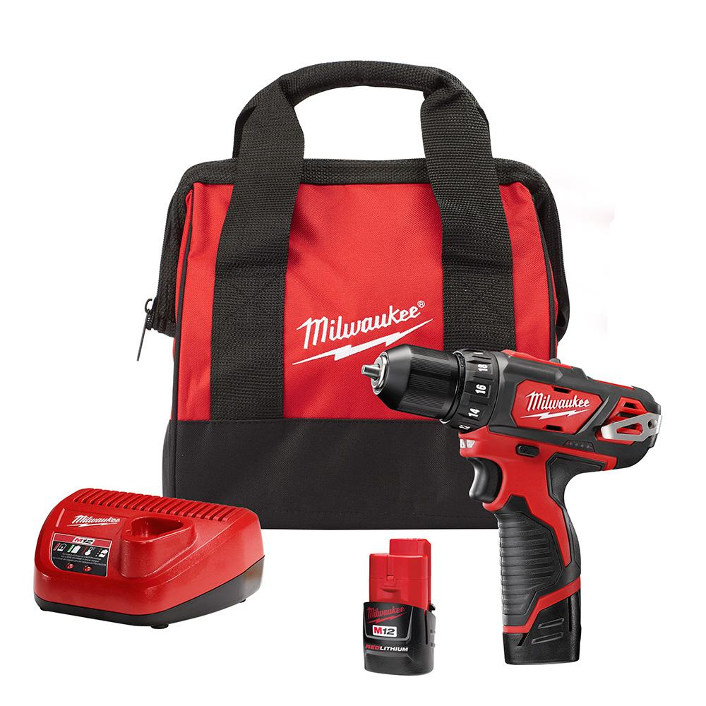 hight resolution of milwaukee m12 12 volt lithium ion cordless 3 8 in drill