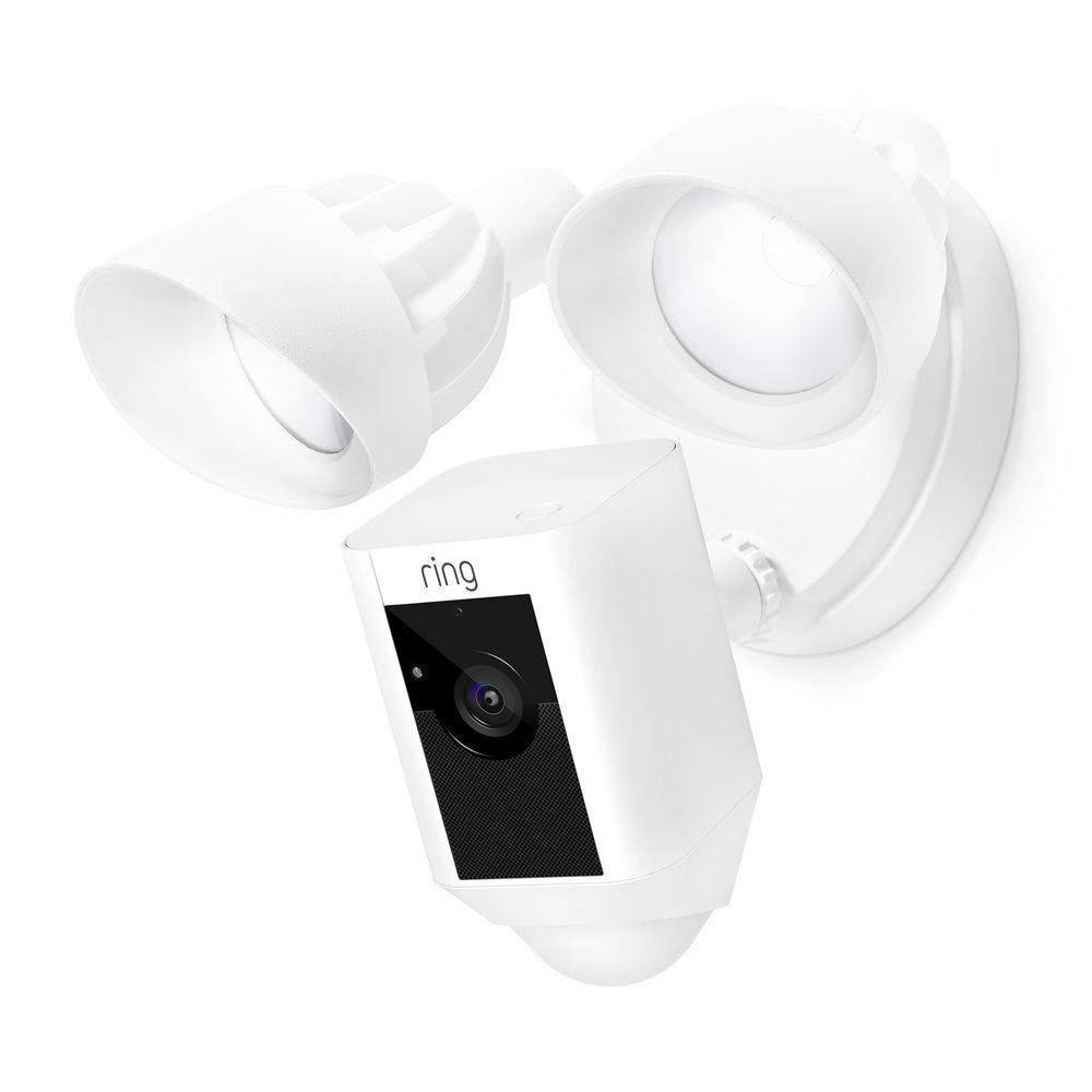 hight resolution of outdoor wi fi cam with motion activated floodlight white