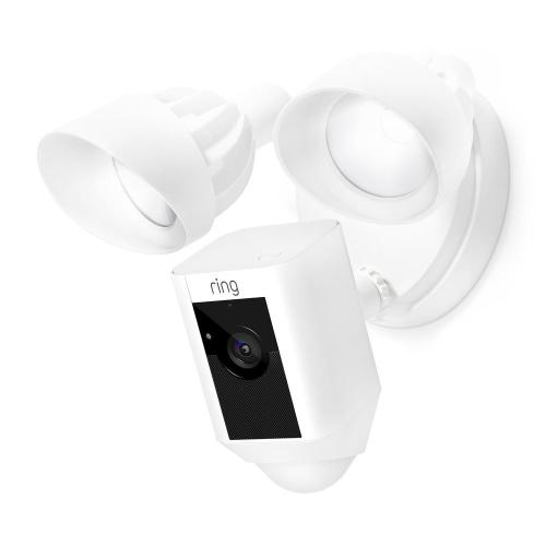 small resolution of outdoor wi fi cam with motion activated floodlight white